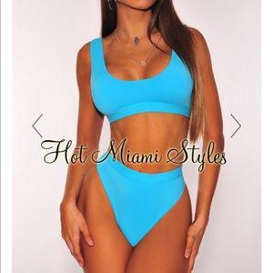 Hot Miami styles turquoise bikini